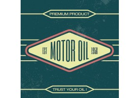 Sticker essence motor oil