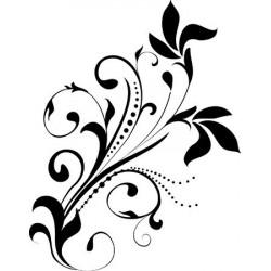 Sticker Arabesque avec papillon