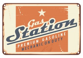 Sticker essence gas station