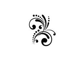 Sticker Floral arabesque