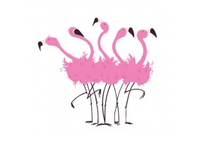 Sticker flamants rose