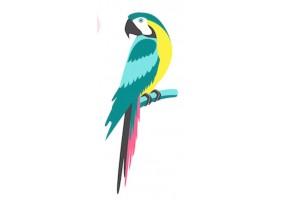 Sticker perroquet vert