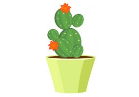 Sticker fleurs cactus