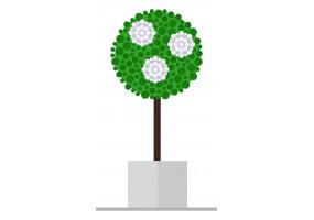 Sticker fleurs arbre