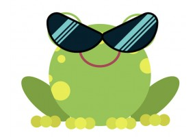 Sticker grenouille lunette soleil