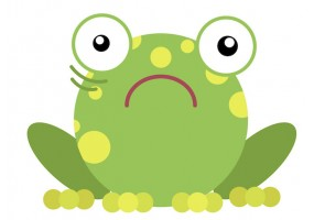 Sticker grenouille peur