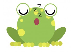 Sticker grenouille endormie