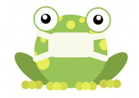 Sticker grenouille masque