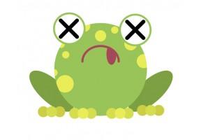 Sticker grenouille malade