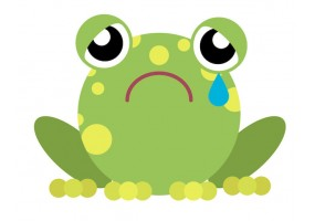 Sticker grenouille triste