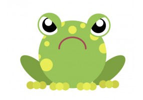 Sticker grenouille fâchée