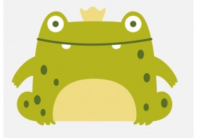 Sticker grenouille couronne