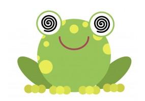 Sticker grenouille hypnotisée