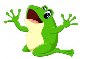 Sticker grenouille rigolote