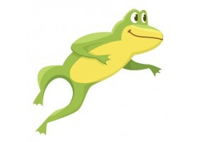 Sticker grenouille saut