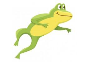 Sticker grenouille saut