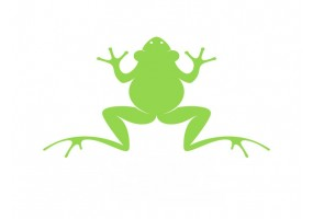 Sticker grenouille silhouette