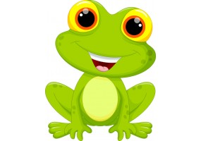 Sticker grenouille grands yeux