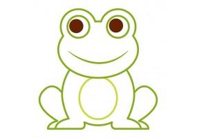 Sticker grenouille voiture
