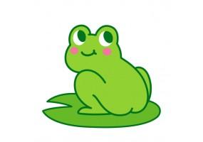 Sticker grenouille dessin