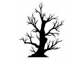 Sticker halloween arbre