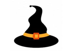 Sticker halloween chapeau sorcière