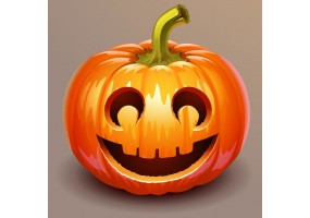 Sticker halloween citrouille
