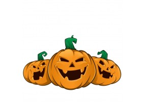Sticker halloween citrouilles