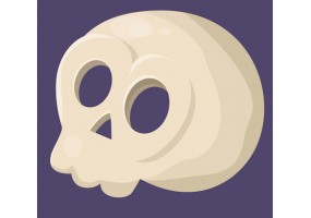 Sticker halloween crâne