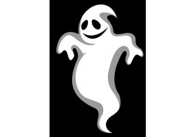 Sticker halloween fantôme