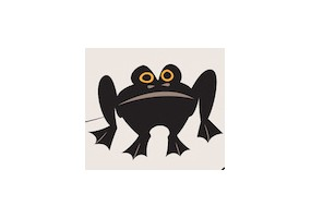 Sticker halloween grenouille