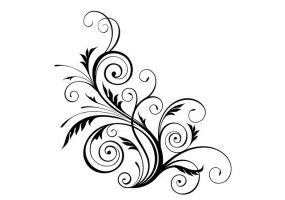 Sticker Arabesque floral