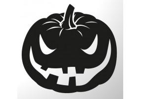 Sticker halloween noir