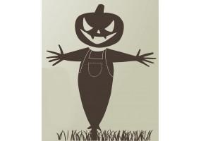 Sticker halloween épouvantail