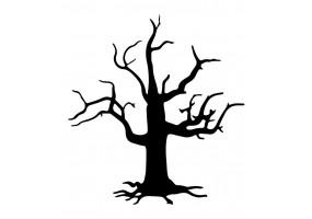 Sticker halloween arbre mort