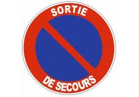 Sticker Prière de stationner - sortie de véhicules