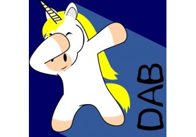 Sticker licorne dab