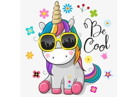 Sticker licorne cool