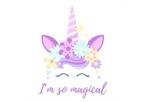 Sticker licorne magical