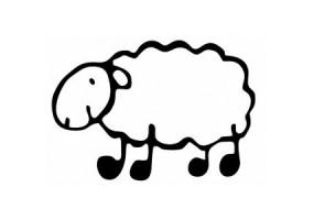 Sticker Mouton Basque