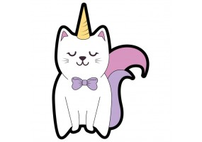 Sticker chat licorne