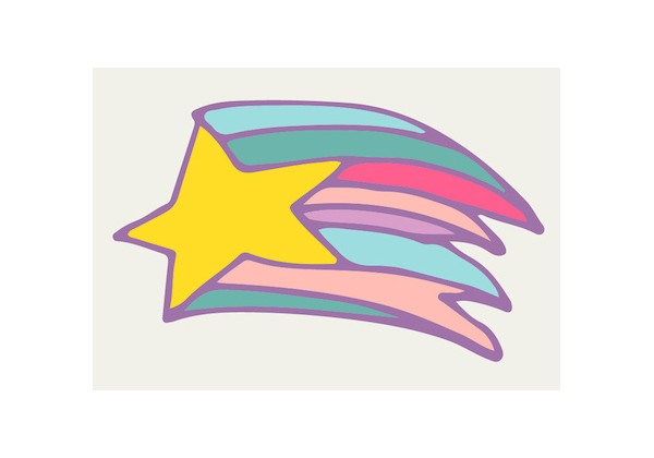 Sticker étoile filante