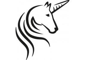 Sticker licorne noir