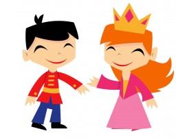 Sticker prince princesse