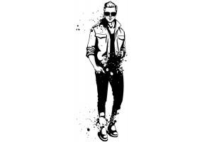 Sticker mode homme