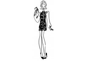 Sticker mode robe noire