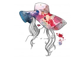 Sticker fashion chapeau