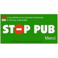 Sticker Stop Publicité GRATUIT