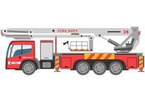 Sticker camion de pompier