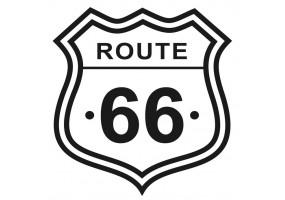 Sticker route 66 noir blanc